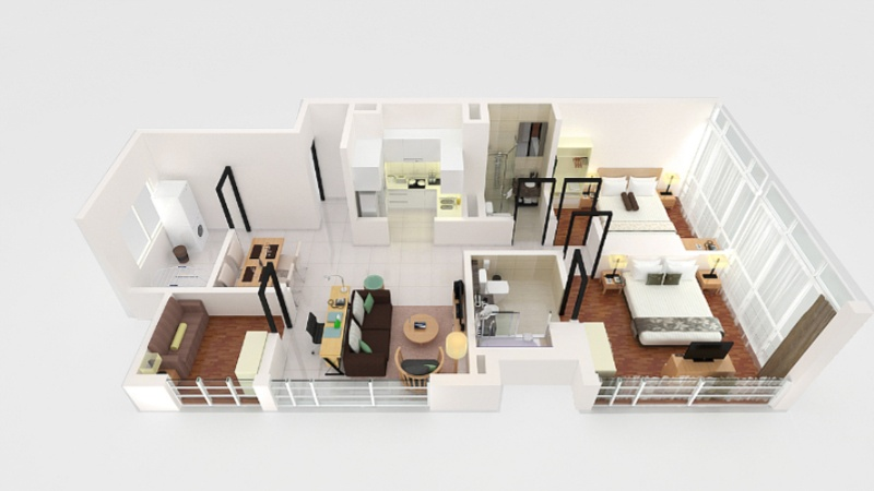 Two Bedroom Suite -87sqm -Floorplan 18 of 23
