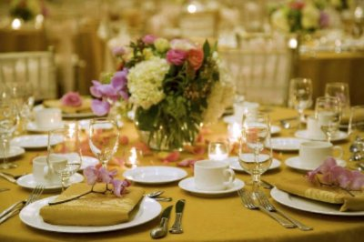 Shot Of Hotel Ballroom Place Setting 5 of 11