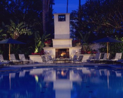Island Hotel Fireplace Evening 2 of 7