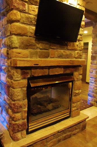 Double Sided Fireplace In Lobby 15 of 15