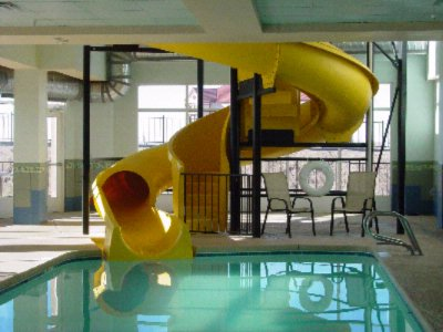 Two-Story Water Slide And Indoor Pool 4 of 7