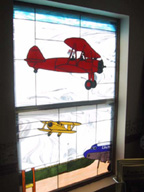Unique aviation them stained glass 4 of 5