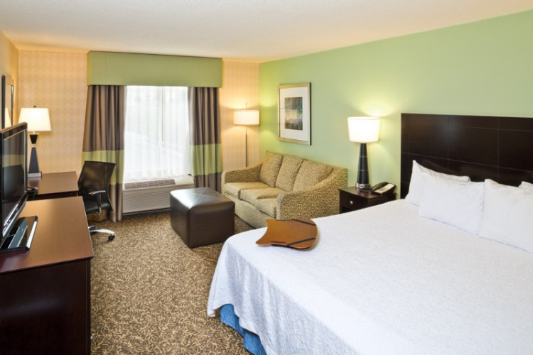 Enjoy A Relaxing Stay In This Room Which Features A Clean And Fresh Hampton Bed® And A Cozy Sofa Bed To Sleep Extra Guests. Useful Amenities Include An Hdtv A Microwave A Refrigerator And A Coffeemaker 7 of 10