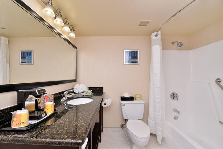 Guest Room Bathroom Holiday Inn La Mirada Near Disneyland 16 of 31