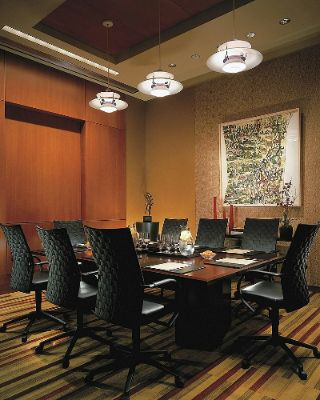The Executive Conference Room Is Set With A Permanent Boardroom Table And Comfortable Executive Chairs. 10 of 11