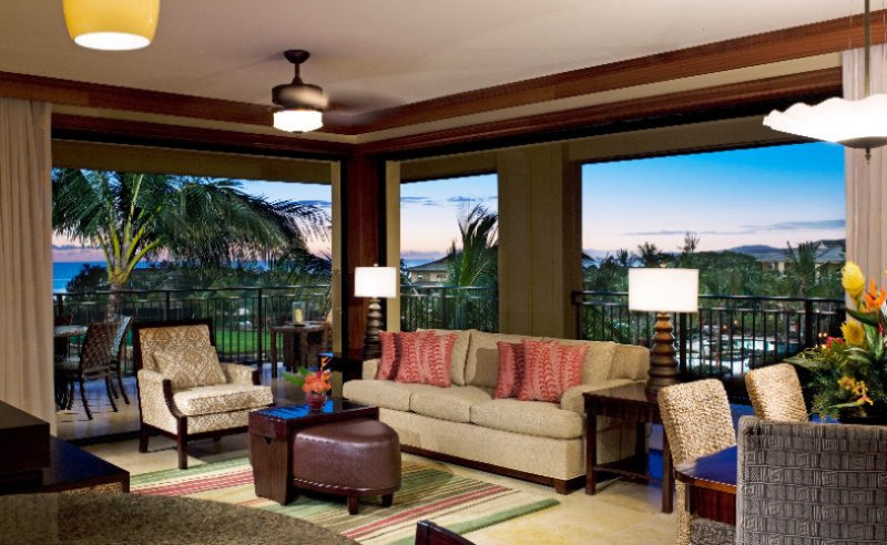 Koloa Landing Resort & Spa -2 Bedroom Living Room 4 of 14