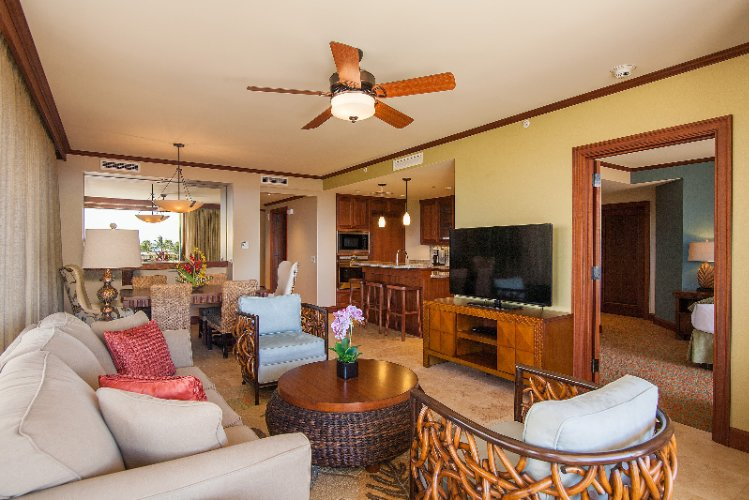 Koloa Landing Resort & Spa -3 Bedroom Living Room 5 of 14