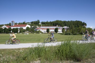 Bicycling Around The Front Lawn -Mission Point Resort 3 of 11