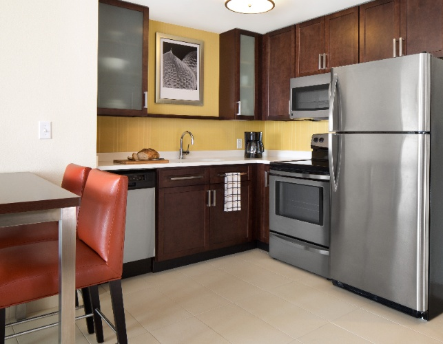 Each Suite Features A Fully Equipped Kitchen Complete With A Full-Size Refrigerator Stovetop Microwave And Dishwasher. Plus Enjoy Our Complimentary Grocery Delivery Service. 3 of 16