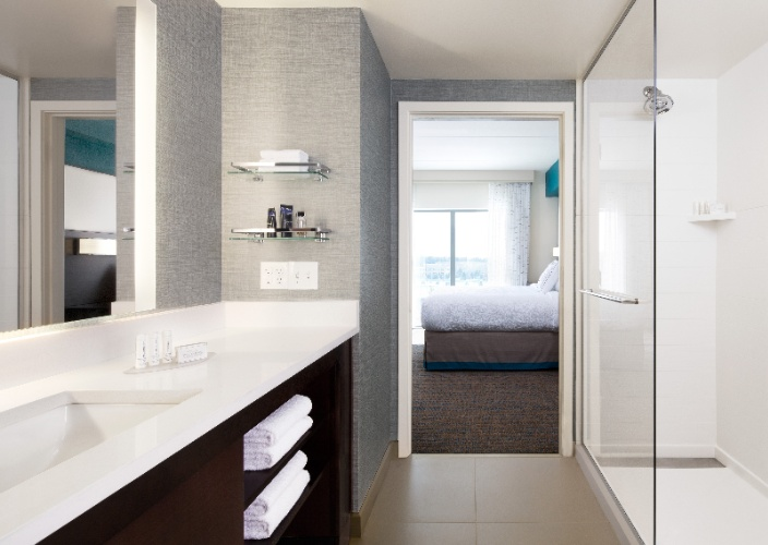 Our Spacious Suite Bathrooms Offer A Vanity Area Outside Of The Bathroom For Extra Convenience During The Morning Rush Complimentary Paul Mitchell Toiletries A Hair Dryer And Plenty Of Storage Space. 4 of 16