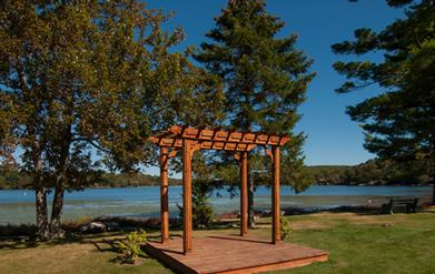 Pergola For Wedding Ceremony Lake Front 17 of 23