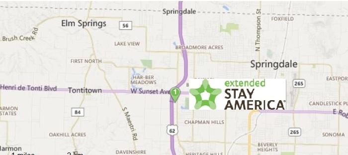 EXTENDED STAY AMERICA FAYETTEVILLE SPRINGDALE Springdale AR 5000