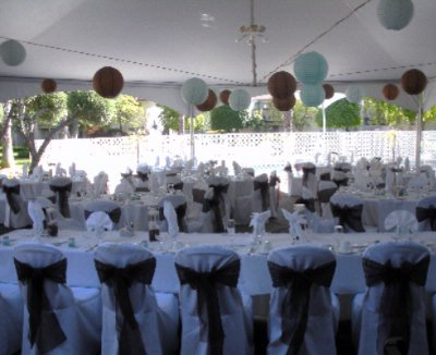 Tented Patio Wedding Reception 17 of 18