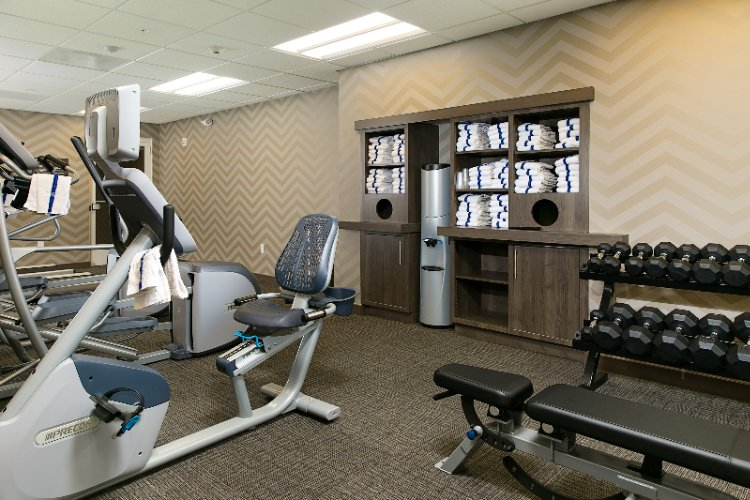 Keep Up Your Fitness Routine In Our 24-Hour On-Site Fitness Center Which Includes Free Weights Elliptical Machine Treadmills And Tv Screens On Each Machine. 6 of 19