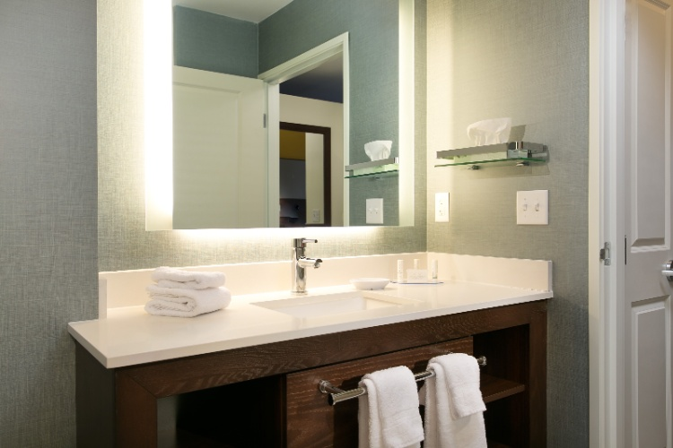 Our Newly Designed Guest Bathrooms Feature A Well-Lit Vanity And Lots Of Storage Space. 10 of 19