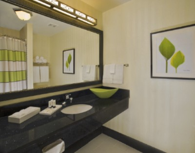 Guest Bathroom: Wake Up To The Fresh New Look Of Our Well-Lit Vanity Area With Lots Of Thoughtful Amenities. This Photo Is A Representation Of The Hotel\'s Facilities And Amenities. 3 of 5