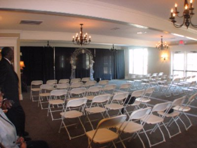Section Of Carolina Room Set Up For Wedding Ceremony 4 of 9