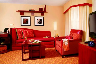 Living Areas Inside The New Residence Inn Newport News Airport Features Bright Bold Colors. 4 of 10