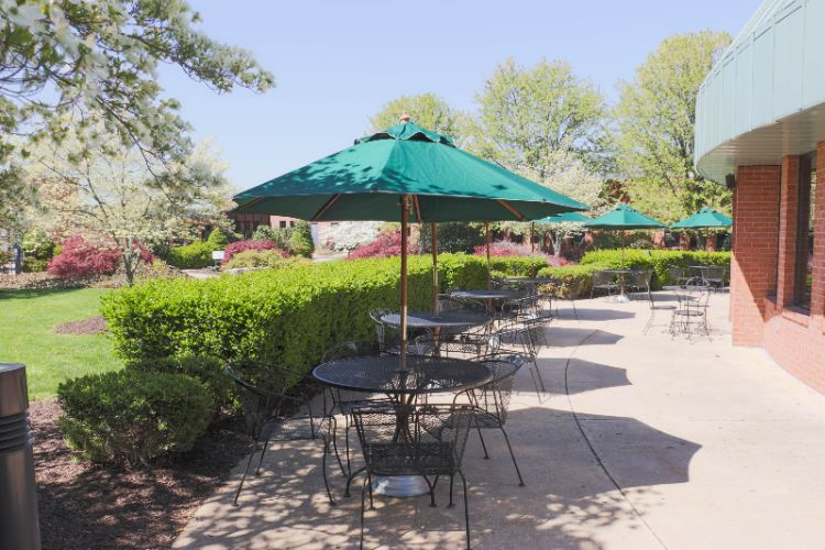 Courtyard/ Patio Area Outside Rumsey Tavern 12 of 14