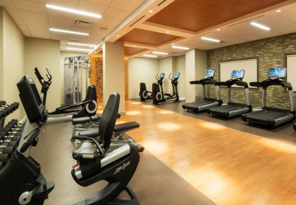Stay Fit In Our Top Of The Line Fitness Center With Views Of The Mountains 6 of 8