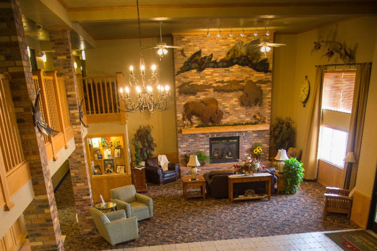 Family Style Lobby With Fireplace 3 of 16