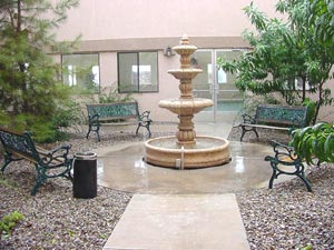 Outdoor Courtyard With Fountain 4 of 15