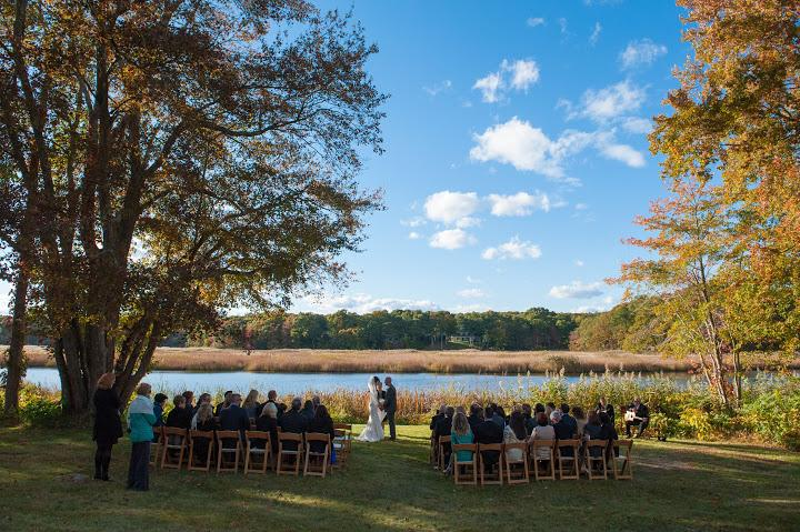 Back Lawn Wedding By The River 3 of 31