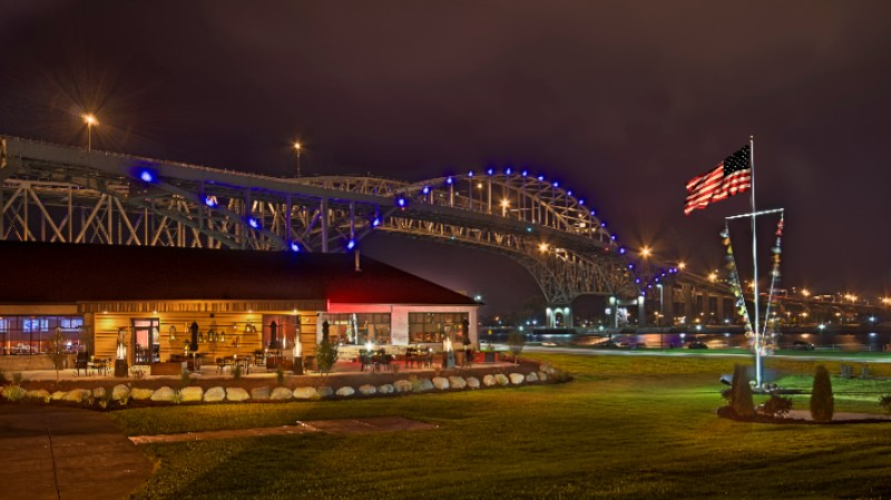 Evening View Of Freighters & The Blue Water Bridge 3 of 8