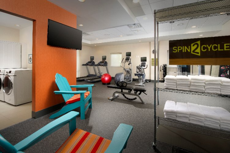 Our Spin2cycle Combination Fitness Center & Laundry Room Is Open 24 Hours. We Offer Cardio Machines A Weight Machine Free Weights Mats Yoga Balls Etc. In Addition Our Laundry Facilities Are Complimentarr 10 of 11