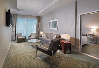 Coast Coal Harbour Hotel -Park Suite Living Room & Bedroom 7 of 13