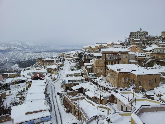 Come See Old City Safed Covered In Snow. 24 of 31