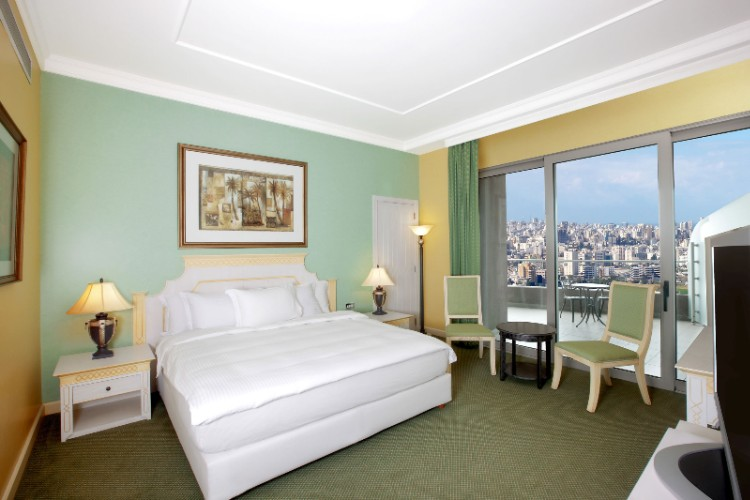 Hilton Beirut Habtoor Grand Guest Room King Bed 11 of 26