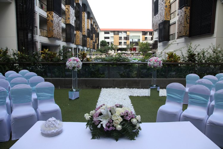 Wedding Ceremony Set Up At Waterfall 17 of 17