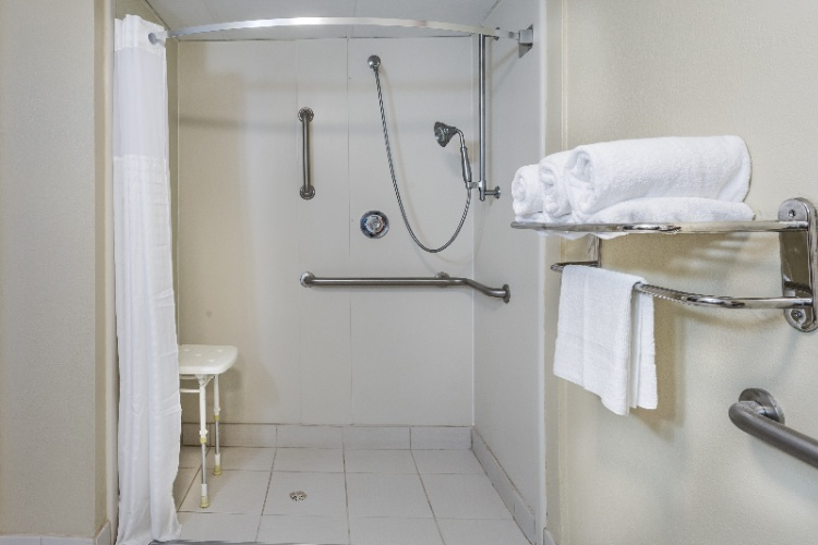 Wheelchair Accessible Roll-In Shower 16 of 17