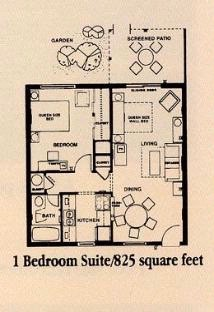 One Bedroom Lay Out 5 of 7