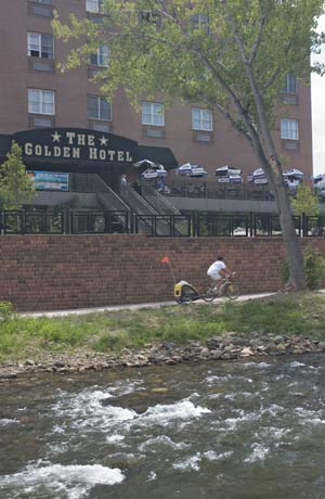 Clear Creek Runs Next To The Golden Hotel 3 of 7