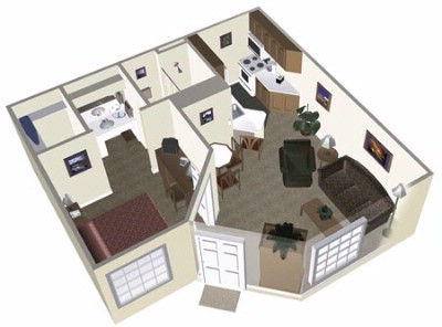 Diagram Of Our One Bedroom Suite 11 of 14