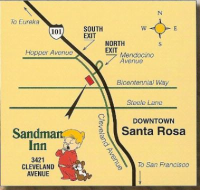 Sandman Inn Map View 10 of 11