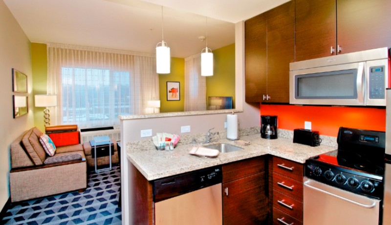 In-Suite Kitchenette And Living Space 7 of 13