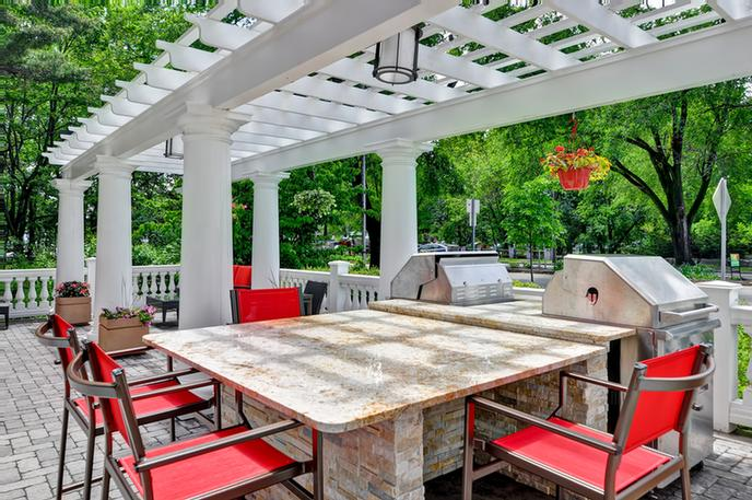 Outdoor Patio Features Grill For Guests To Cook Outdoors 6 of 23