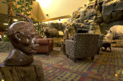 The Lobby Reflects An African Theme With Wild Game Animals Welcoming Every Guest. 8 of 13