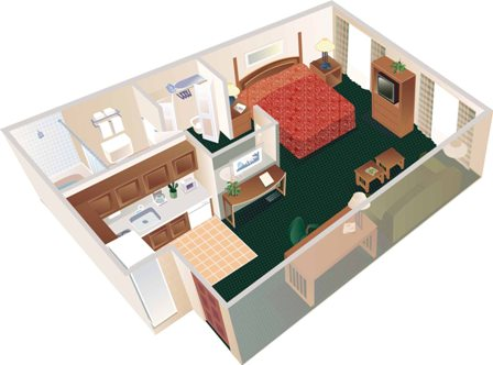 The Studio Suite (Max 2 People) 355 Sq Ft 3 of 8