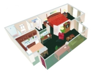 One Bedroom Suite (Max 4 People) 555 Sq Ft 4 of 8