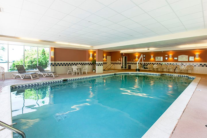 Reflect Upon The Days End In Our Indoor Pool. 6 of 12
