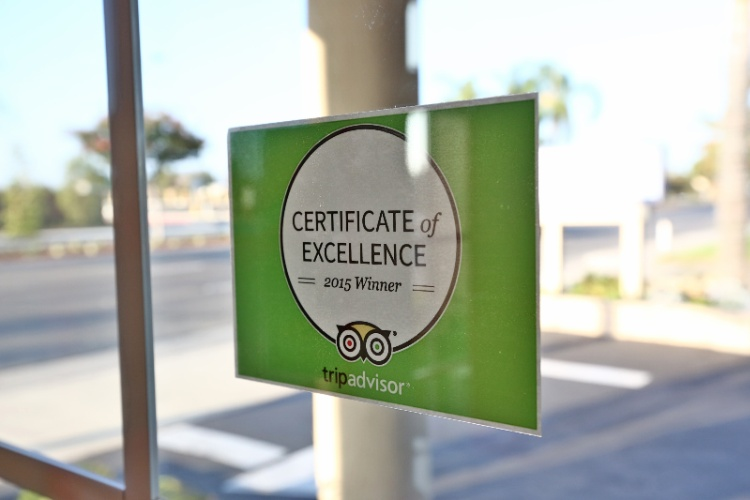 Tripadvisor Certificate Of Excellence 4 Years Running 13 of 13