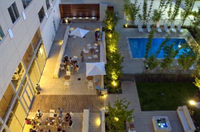 Courtyard With Heated Saltwater Pool And Firepit 12 of 16