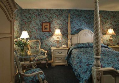 Country French Teal Boudoir 3 of 10