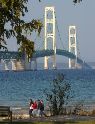 At The Foot Of The Mighty Mackinac Bridge 4 of 26