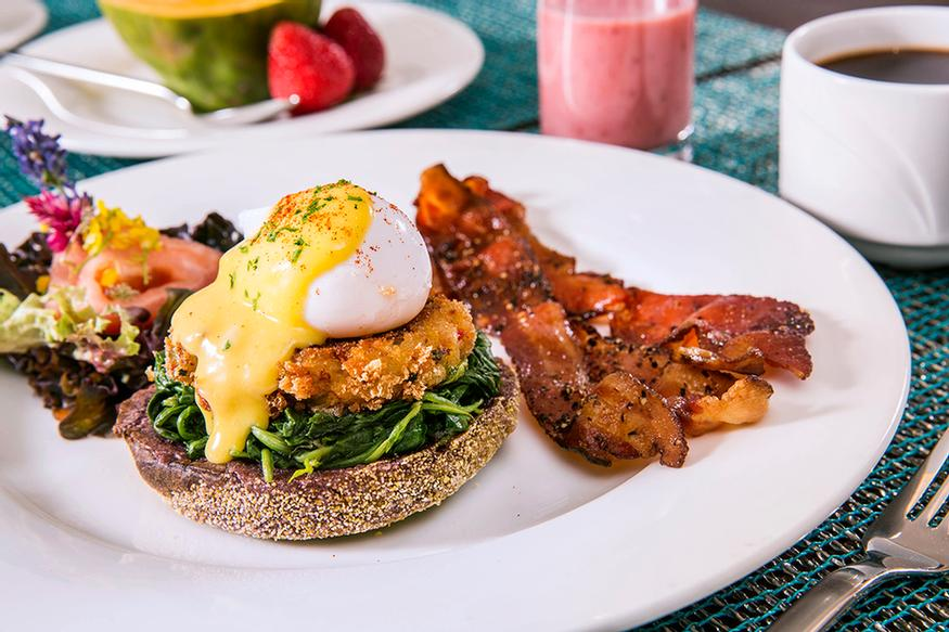 Crab Cake Eggs Benedict On Taro English Muffin 19 of 24