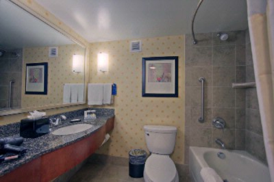 Well Lit Bathrooms Featuring Granite & Tile 7 of 16